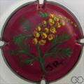 Champagne capsule  PALM, fleur, fond rouge foncé