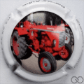Champagne capsule A16.b Tracteur rouge