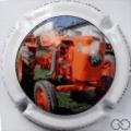Champagne capsule A16.a Tracteur orange