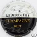 Champagne capsule  Blanc et noir