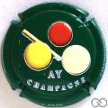 Champagne capsule A1 Fond vert
