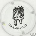 Champagne capsule 2.a Blanc et noir, barre courte au E