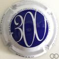 Champagne capsule  300, bleu contour blanc