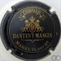 Champagne capsule 7 Noir, écusson rouge