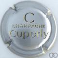 Champagne capsule 10 Fond argent, grand C