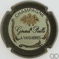 Champagne capsule 1 Contour vert foncé