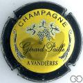 Champagne capsule 7 Or, contour vert foncé