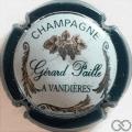 Champagne capsule 2 Contour vert foncé, fond blanc
