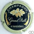 Champagne capsule 8 Vert, contour crème