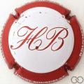 Champagne capsule 28.l Blanc et rouge, contour rouge