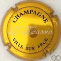 Champagne capsule  Or foncé, noir et blanc