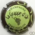Champagne capsule 3.b Vert-jaune, contour marron