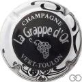 Champagne capsule 3.a Noir, contour blanc