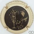 Champagne capsule 1 Noir, contour bronze pâle