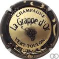 Champagne capsule 3 Or, contour noir