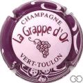 Champagne capsule 3.c Rose pâle, contour violet