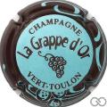Champagne capsule 3.d Bleu pâle, contour marron