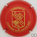 Champagne capsule 12 2007, rouge et or