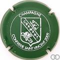 Champagne capsule 14 2009, vert et blanc