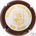 Champagne capsule 4 2000, contour bordeaux