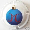 Champagne capsule A2.b Boule de Noël, bleu