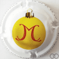 Champagne capsule A2.d Boule de Noël, jaune