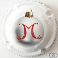 Champagne capsule A2.c Boule de Noël, argent