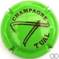 Champagne capsule A1.b Vert fluo et noir