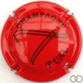 Champagne capsule A1.a Rouge et noir