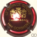 Champagne capsule A1 Bordeaux métallisé, verso or