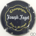 Champagne capsule 22 Noir, or et blanc, inscription sur contour