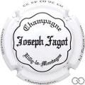 Champagne capsule 18 Blanc et noir, inscription sur contour