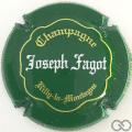 Champagne capsule 21 Vert, or et blanc, inscription sur contour