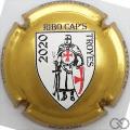 Champagne capsule 44.e Ribo Cap's 2020, contour or en relief