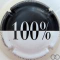 Champagne capsule 31 100%, noir et blanc