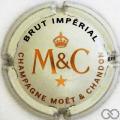 Champagne capsule 218.aa Quart, crème pâle, or cuivre rouge