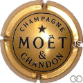 Champagne capsule 240 Nabuchodonosor, or foncé, inscription Champagne