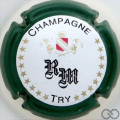 Champagne capsule 19 Contour vert