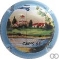 Champagne capsule 47.b Caps 03, contour bleu