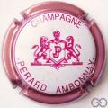 Champagne capsule 23.f Contour rosé, fond blanc, écriture rose