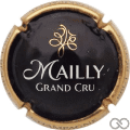 Champagne capsule 21 Noir, contour or, Grand Cru