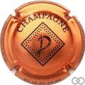 Champagne capsule 10.j Cuivre et noir