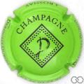 Champagne capsule 10.c Vert pâle et noir