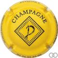 Champagne capsule 10.g Jaune et noir
