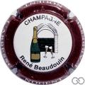 Champagne capsule 17 Contour bordeaux, inscription blanche