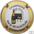 Champagne capsule 23 Contour or, majuscules, grandes lettres épaisses