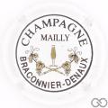 Champagne capsule 7 Blanc et noir (grandes lettres)