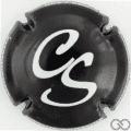 Champagne capsule A4.d Noir et blanc, verso noir