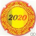 Champagne capsule A5.b Contour rouge, holographique