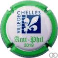 Champagne capsule  Blanc et bleu, contour vert